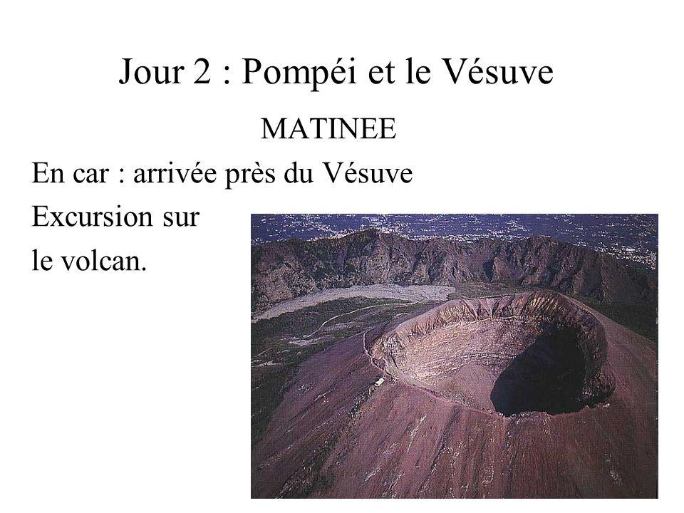 Jour 2 : Pompéi et le Vésuve