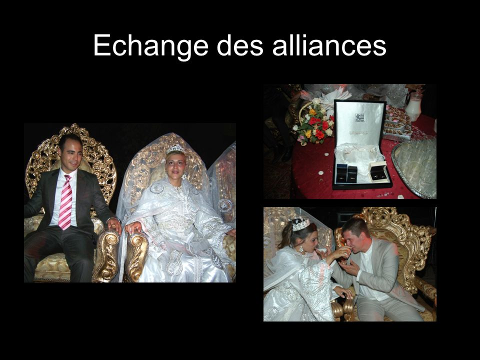Echange des alliances