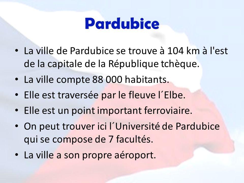 Pardubice La ville de Pardubice se trouve à 104 km à l est de la capitale de la République tchèque.