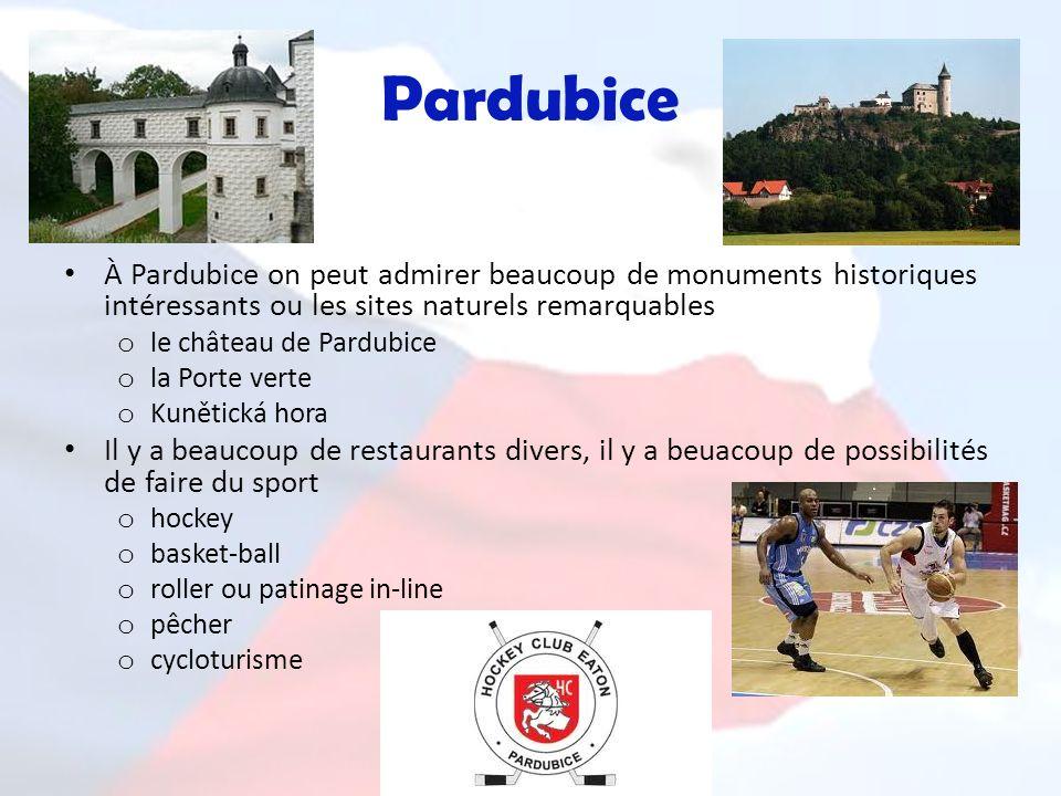 Pardubice À Pardubice on peut admirer beaucoup de monuments historiques intéressants ou les sites naturels remarquables.
