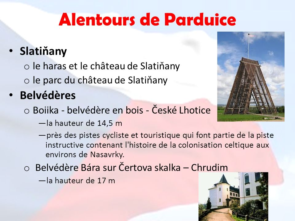 Alentours de Parduice Slatiňany Belvédères