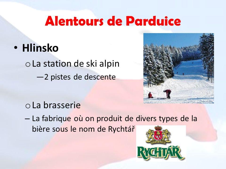 Alentours de Parduice Hlinsko La station de ski alpin La brasserie