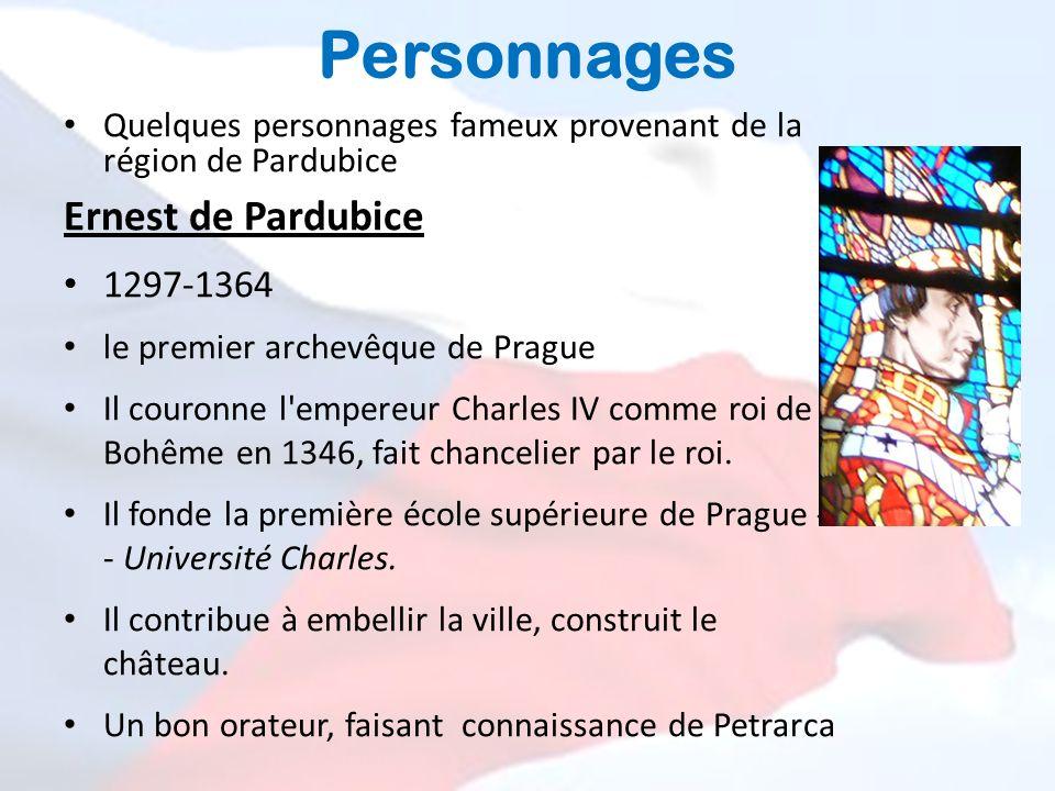 Personnages Ernest de Pardubice 1297-1364