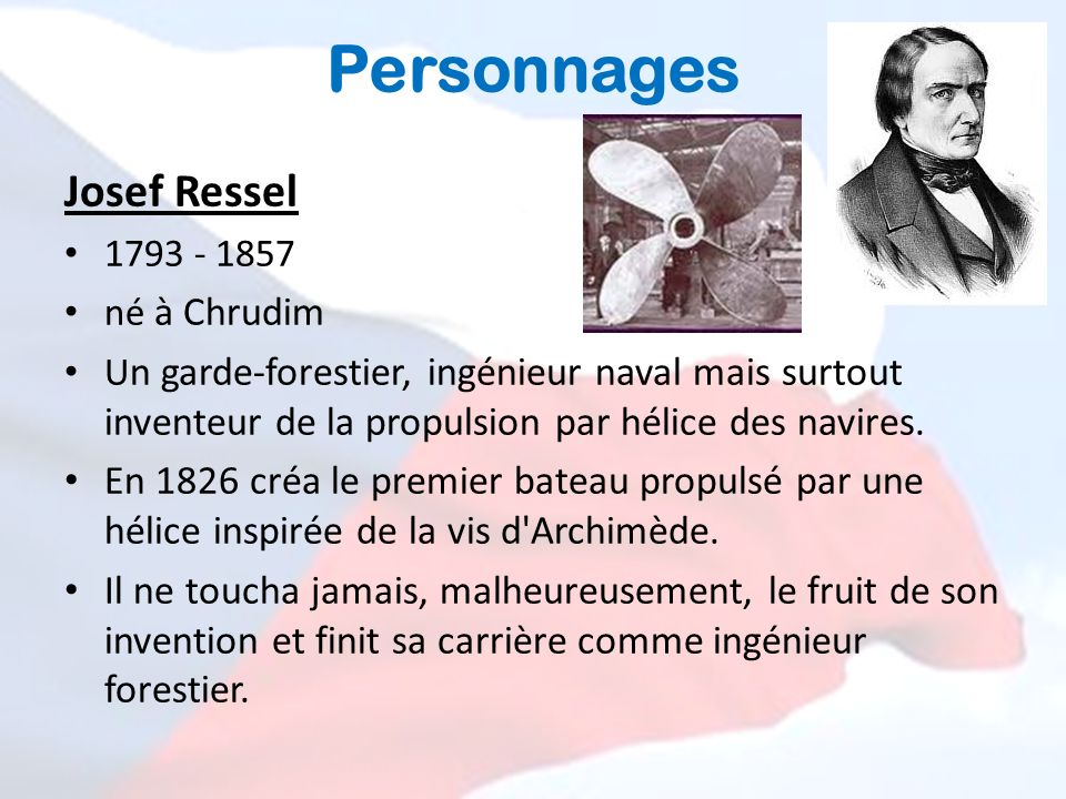 Personnages Josef Ressel