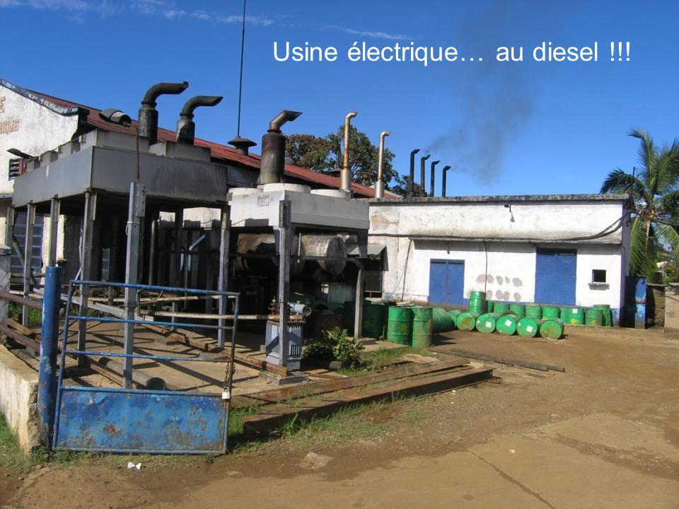 Usine électrique… au diesel !!!