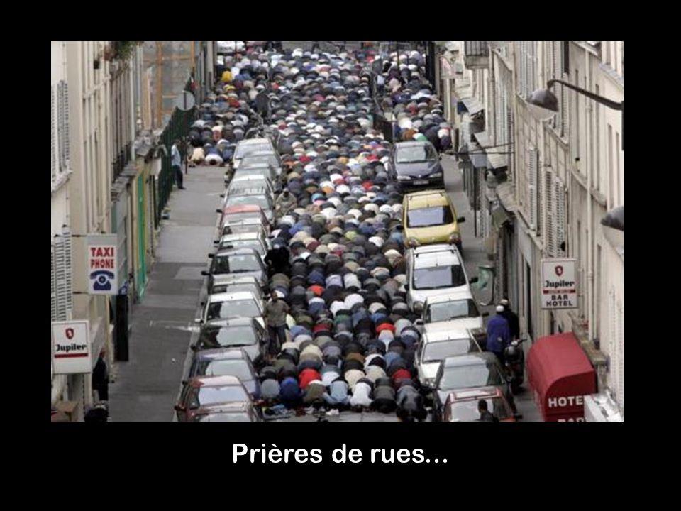 Prières de rues...