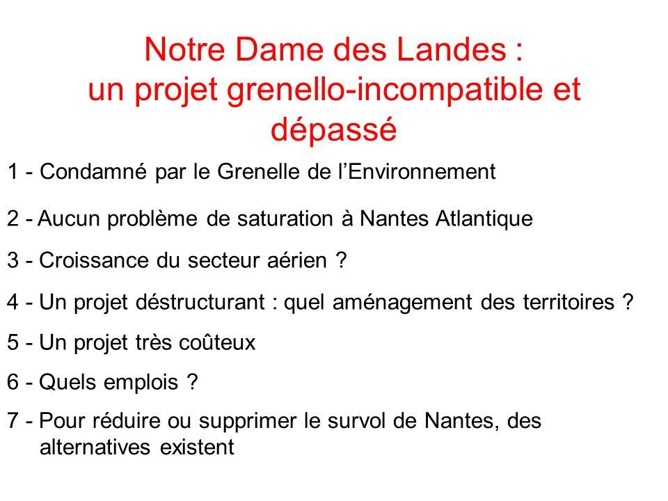 Notre Dame des Landes : un projet grenello-incompatible et dépassé
