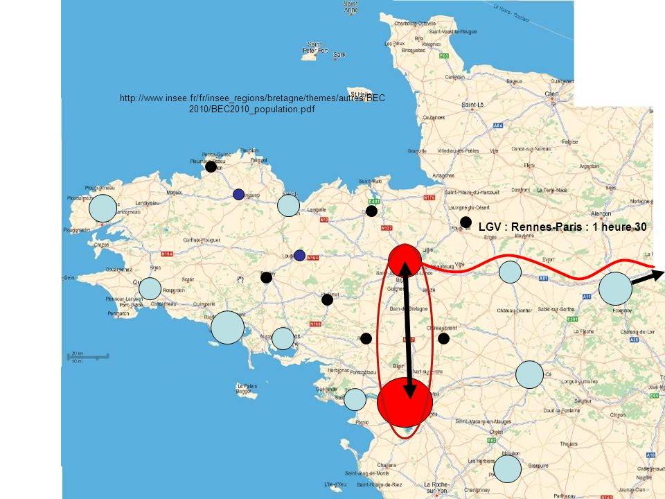 LGV : Rennes-Paris : 1 heure 30