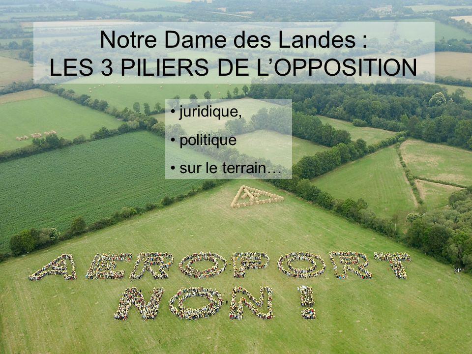 Notre Dame des Landes : LES 3 PILIERS DE L'OPPOSITION