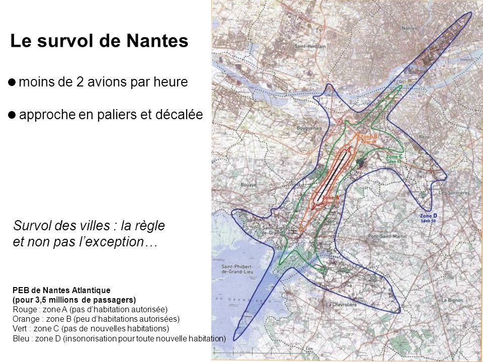 Le survol de Nantes moins de 2 avions par heure