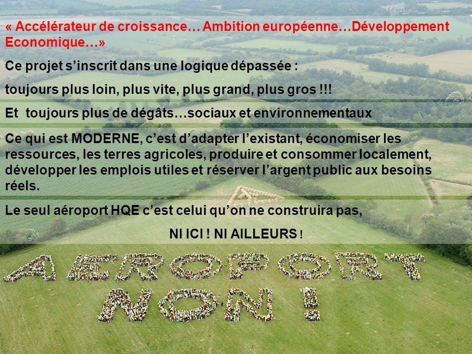 « Accélérateur de croissance… Ambition européenne…Développement Economique…»