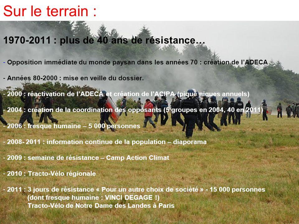 Sur le terrain : 1970-2011 : plus de 40 ans de résistance…