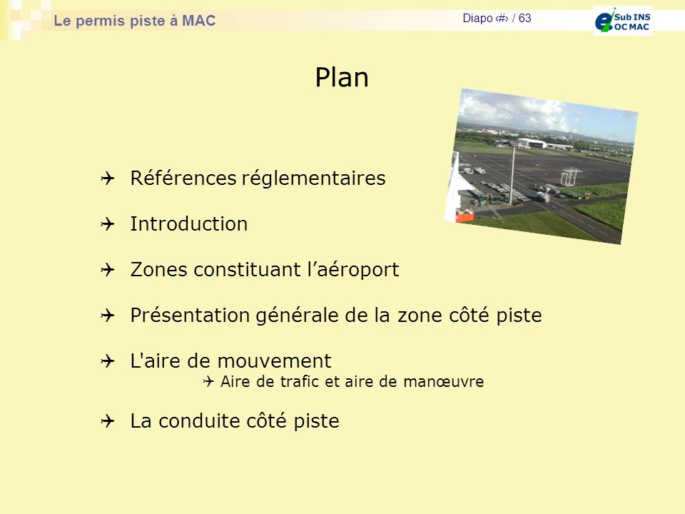 Plan Références réglementaires Introduction