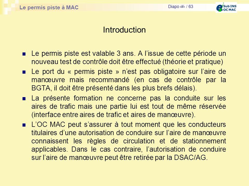 Introduction Le permis piste est valable 3 ans. A l'issue de cette période un nouveau test de contrôle doit être effectué (théorie et pratique)
