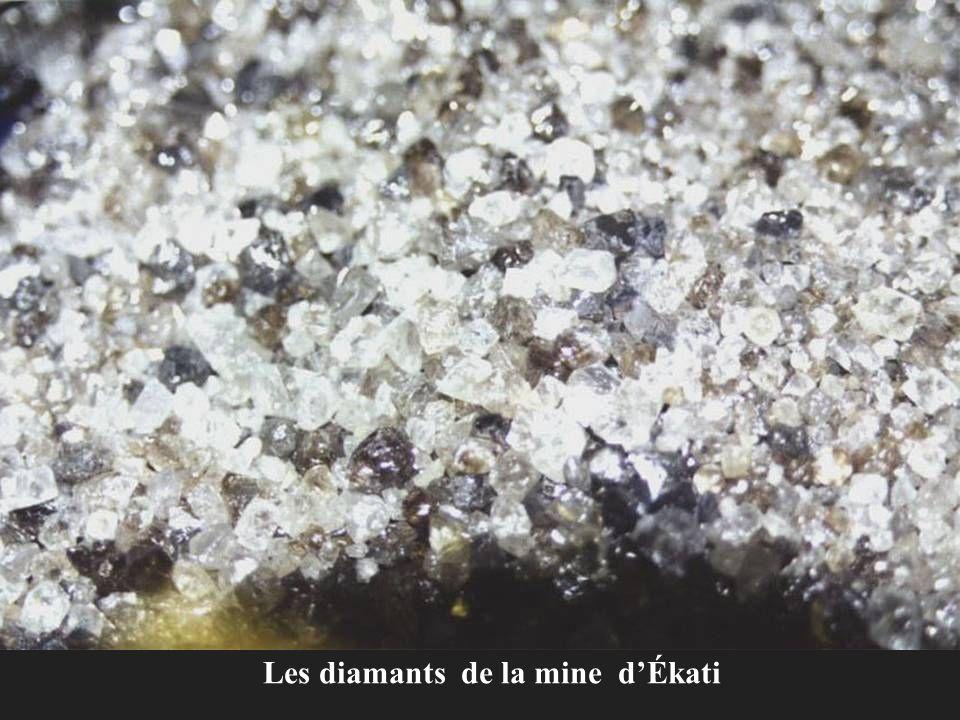 Les diamants de la mine d'Ékati