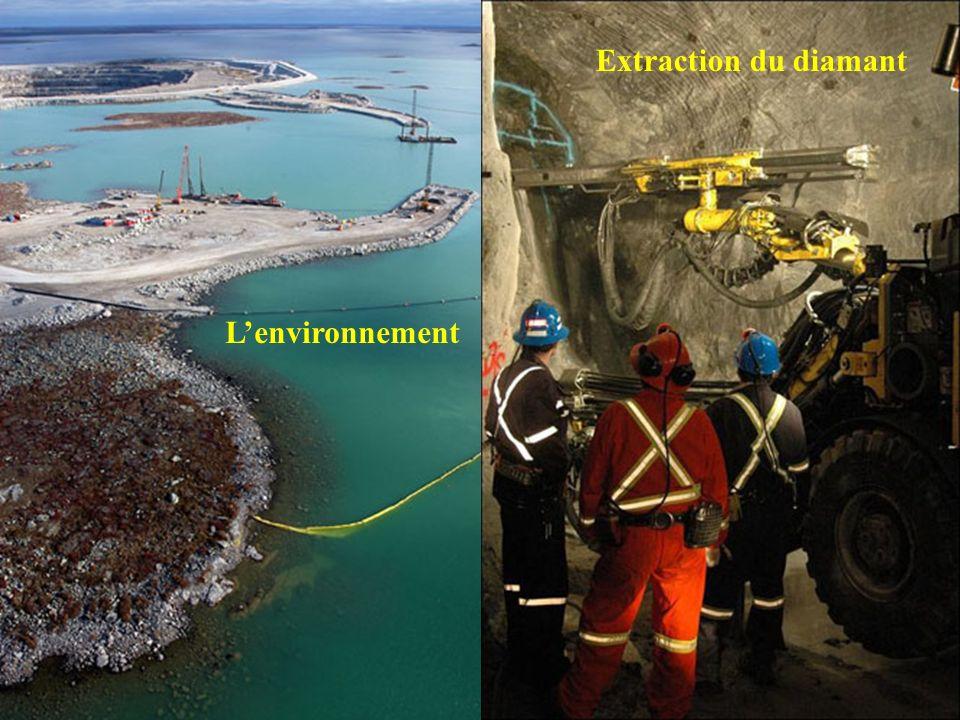 Extraction du diamant L'environnement .