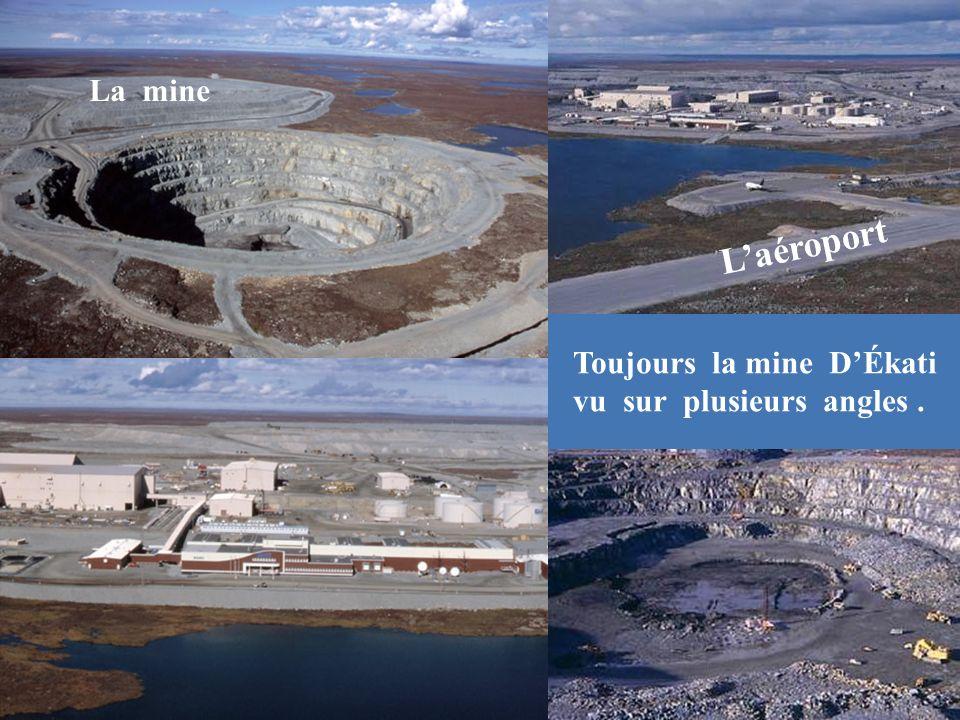La mine L'aéroport Toujours la mine D'Ékati vu sur plusieurs angles .