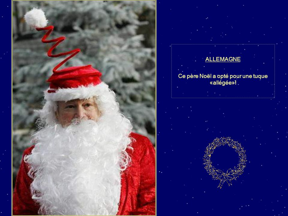 Ce père Noël a opté pour une tuque «allégée»!