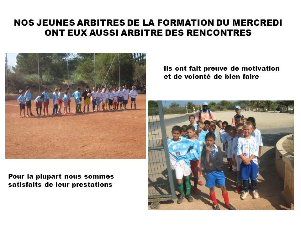 NOS JEUNES ARBITRES DE LA FORMATION DU MERCREDI ONT EUX AUSSI ARBITRE DES RENCONTRES