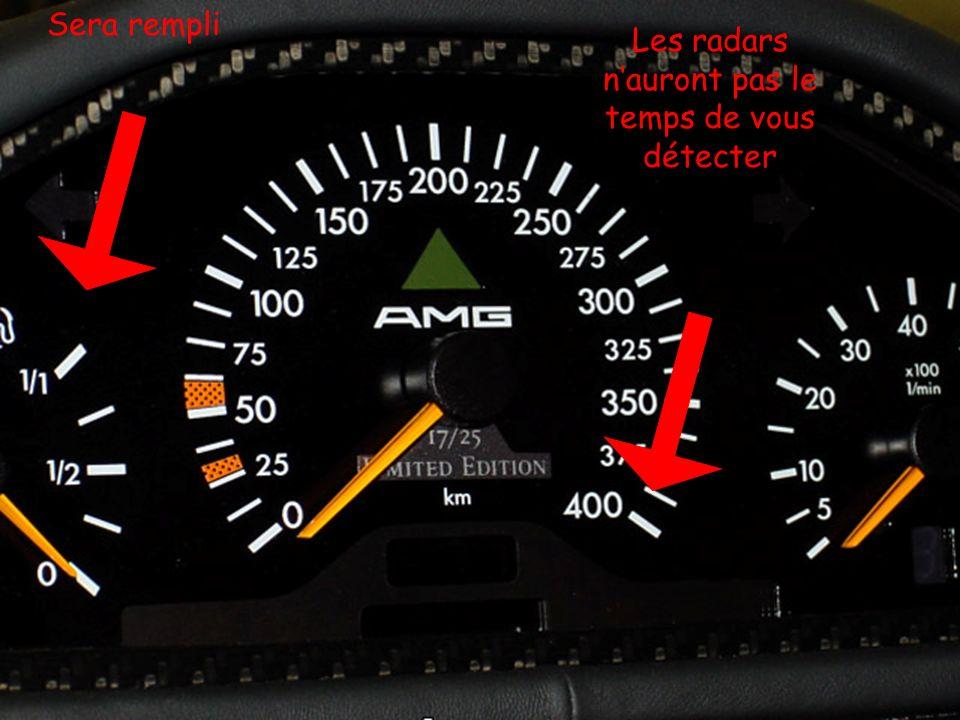 Les radars n'auront pas le temps de vous détecter