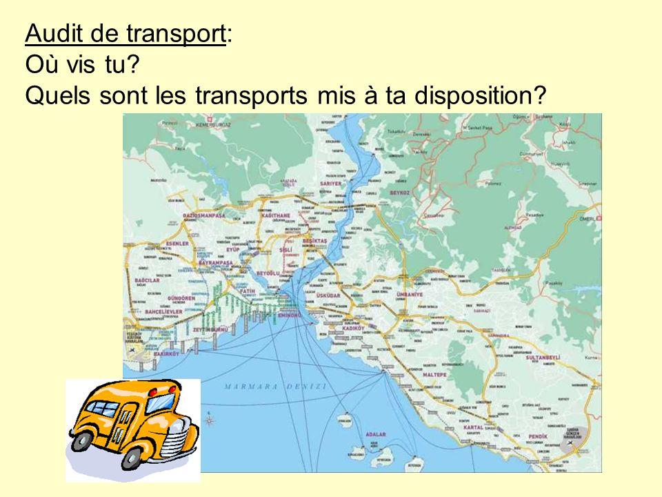 Audit de transport:. Où vis tu