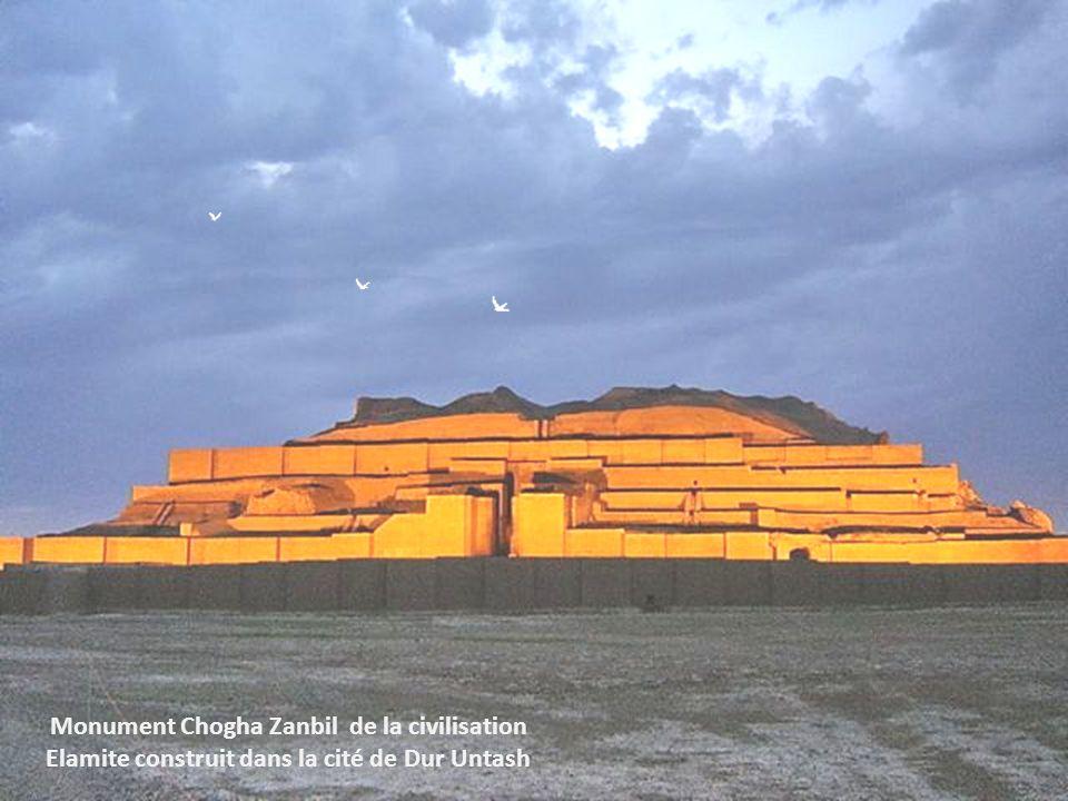 Monument Chogha Zanbil de la civilisation Elamite construit dans la cité de Dur Untash