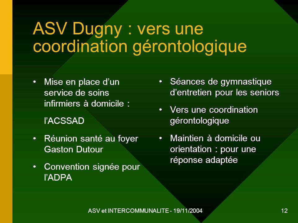 ASV Dugny : vers une coordination gérontologique