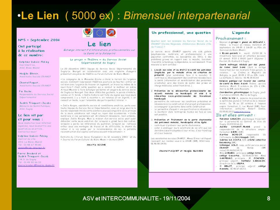 Le Lien ( 5000 ex) : Bimensuel interpartenarial