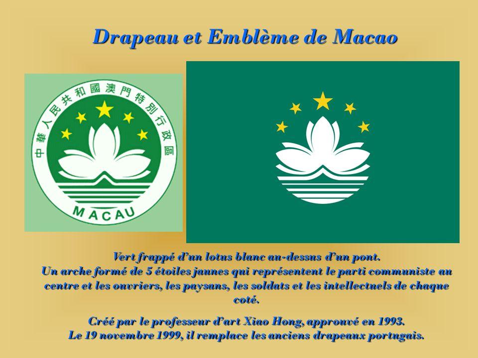 Drapeau et Emblème de Macao