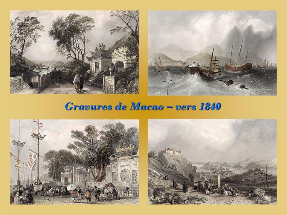 Gravures de Macao – vers 1840
