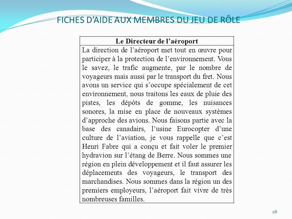 FICHES D'AIDE AUX MEMBRES DU JEU DE RÔLE