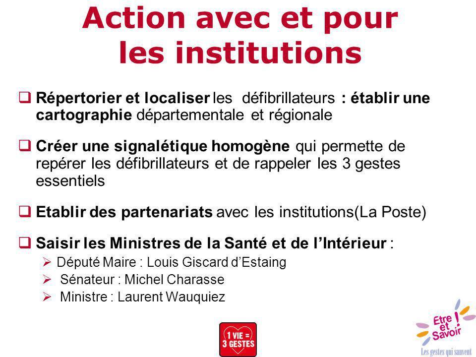 Action avec et pour les institutions