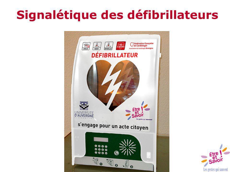 Signalétique des défibrillateurs