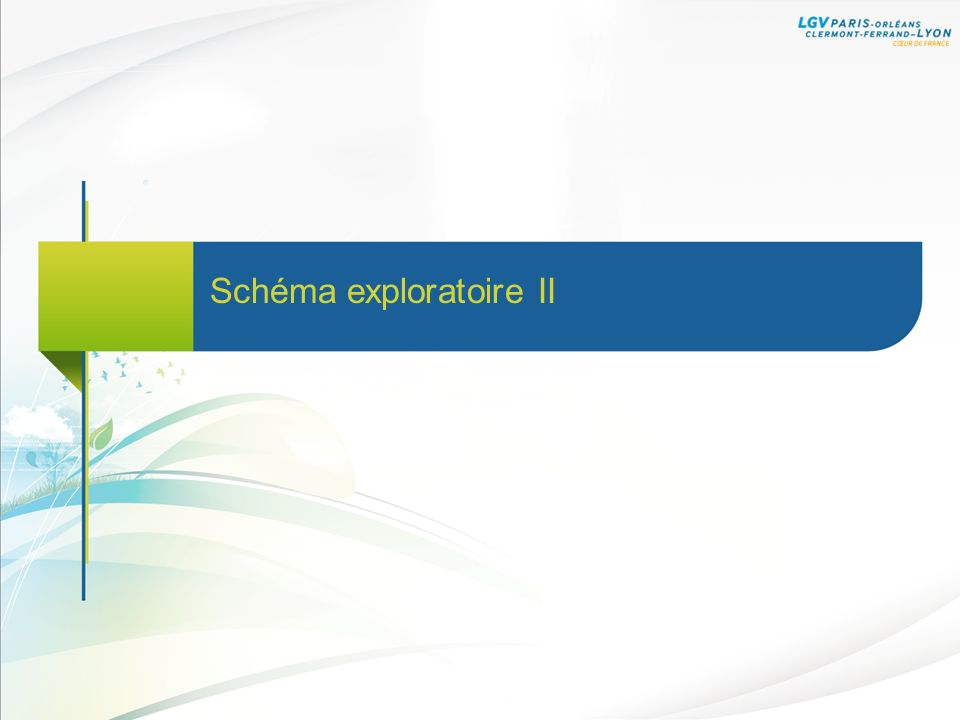 Schéma exploratoire II