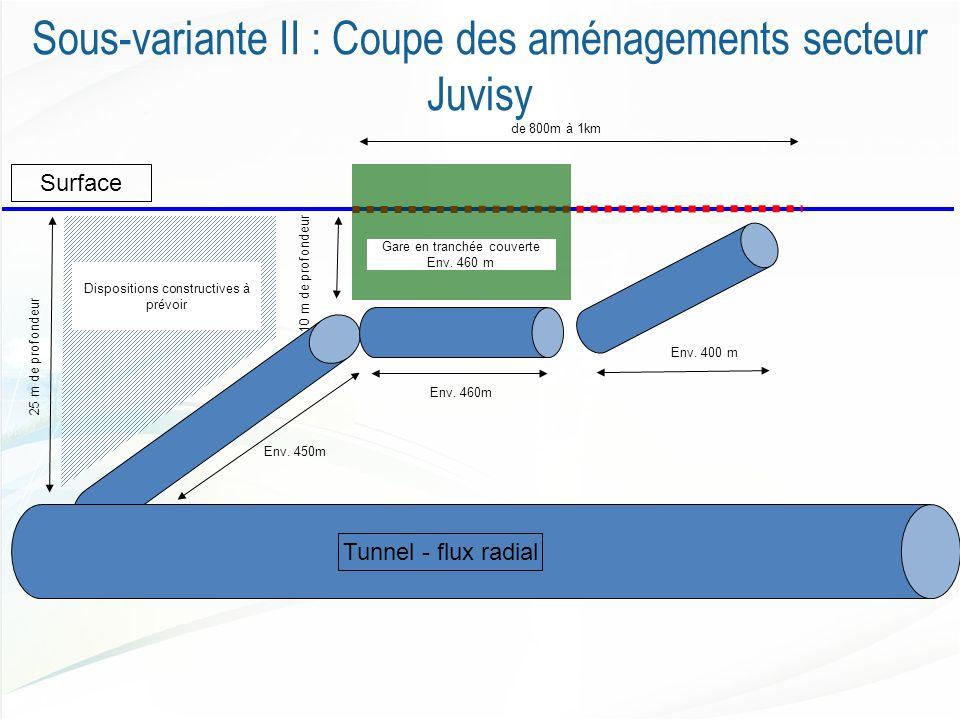 Sous-variante II : Coupe des aménagements secteur Juvisy