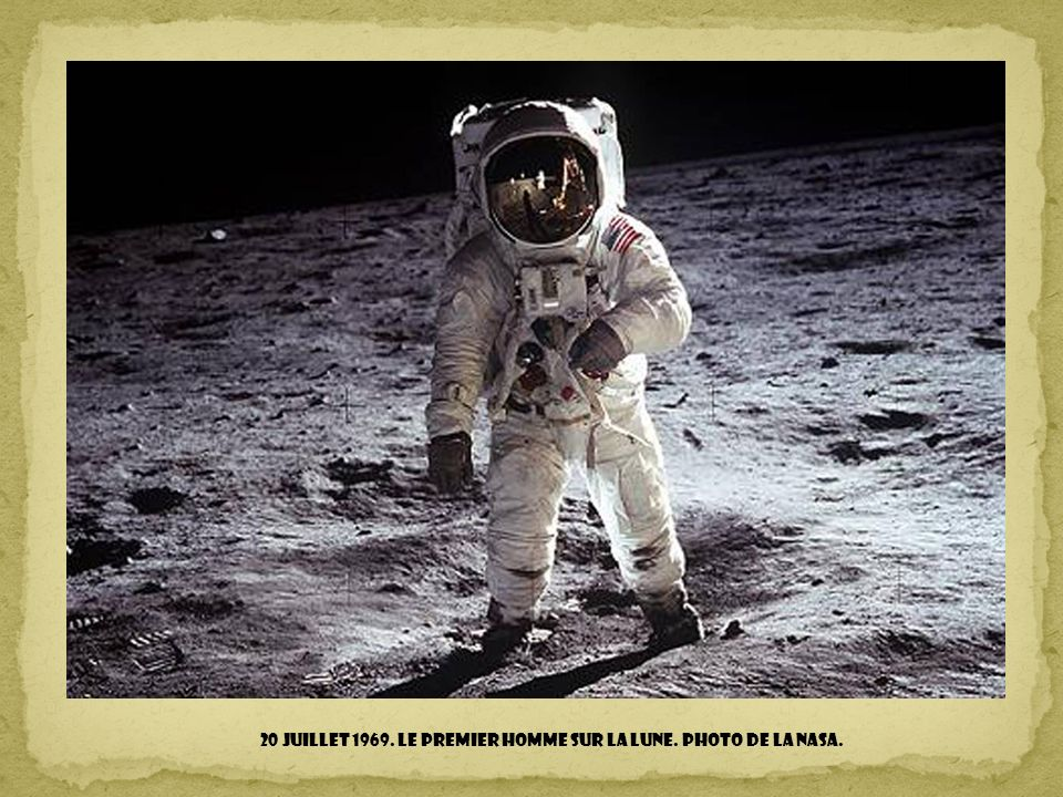 20 juillet 1969. Le premier homme sur la lune. Photo de la NASA.