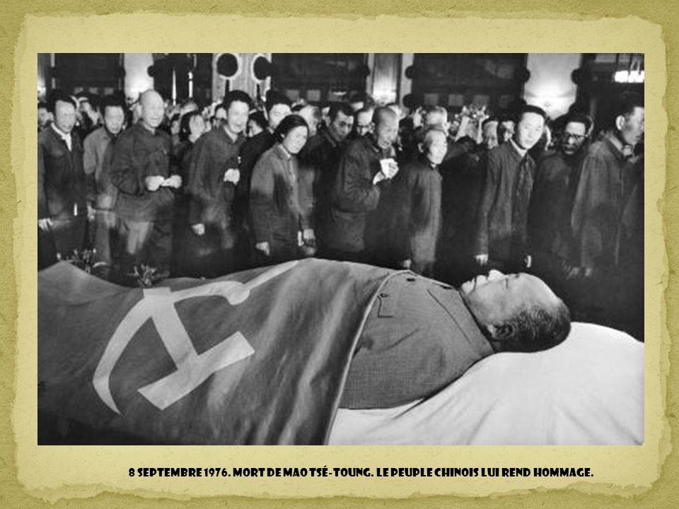 8 septembre 1976. Mort de Mao Tsé-Toung