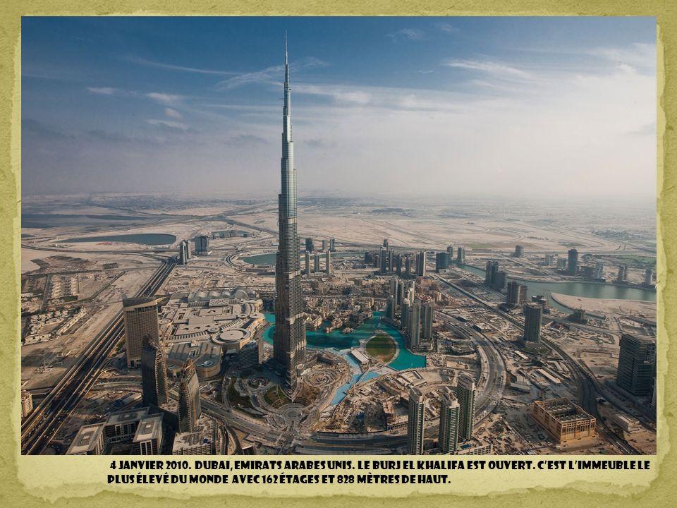 4 janvier 2010. DUBAI, Emirats Arabes Unis