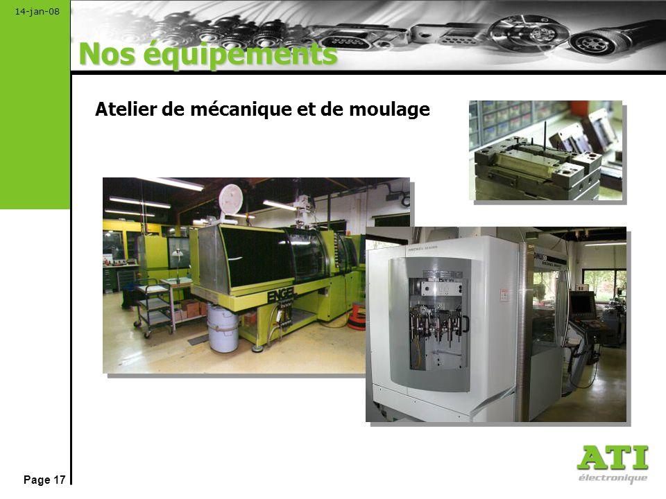 Nos équipements Atelier de mécanique et de moulage
