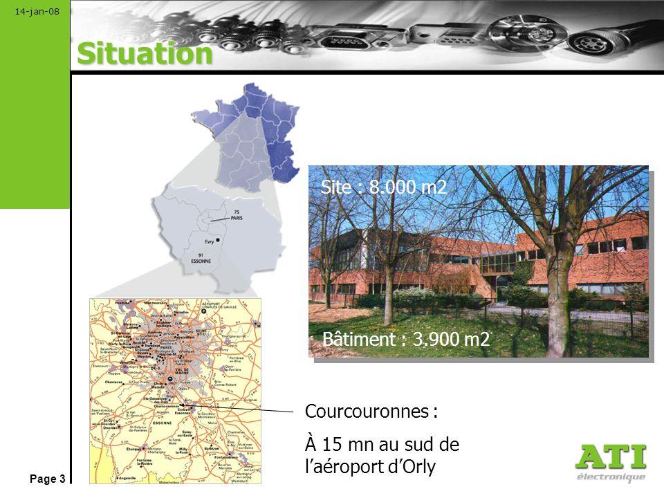 Situation Site : 8.000 m2 Bâtiment : 3.900 m2 Courcouronnes :