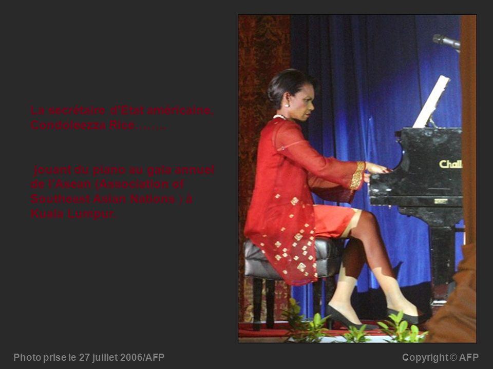 La secrétaire d Etat américaine, Condoleezza Rice……..