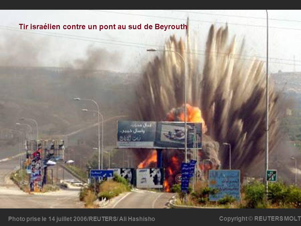 Tir israélien contre un pont au sud de Beyrouth