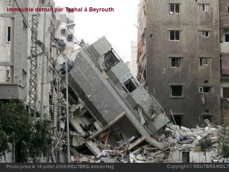 Immeuble détruit par Tsahal à Beyrouth