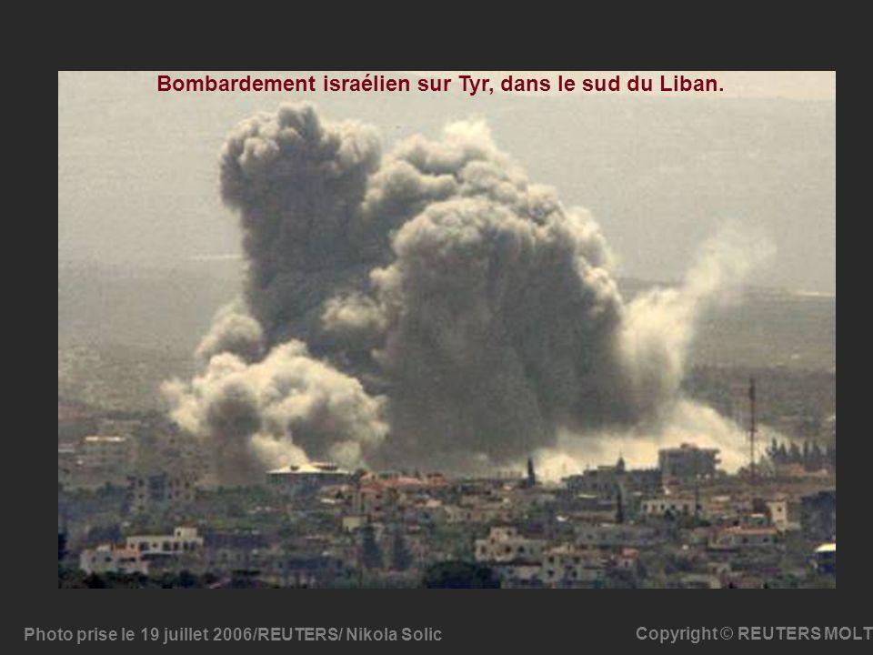 Bombardement israélien sur Tyr, dans le sud du Liban.