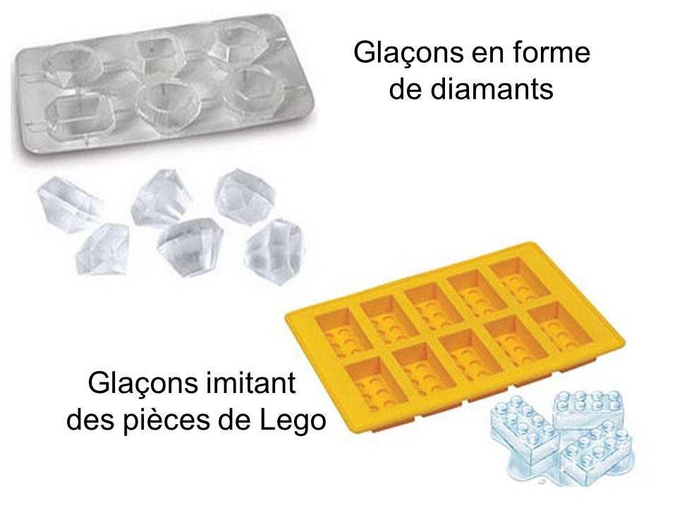 Glaçons en forme de diamants