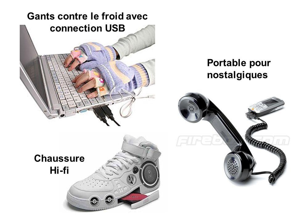 Gants contre le froid avec connection USB