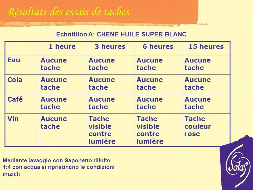 Echntillon A: CHENE HUILE SUPER BLANC