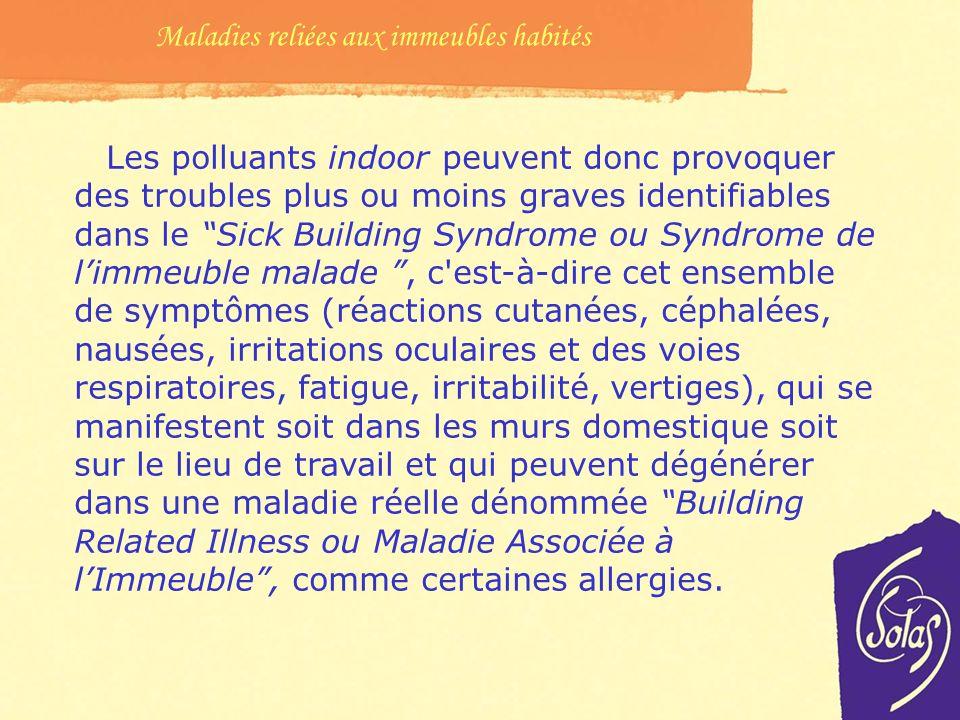 Maladies reliées aux immeubles habités