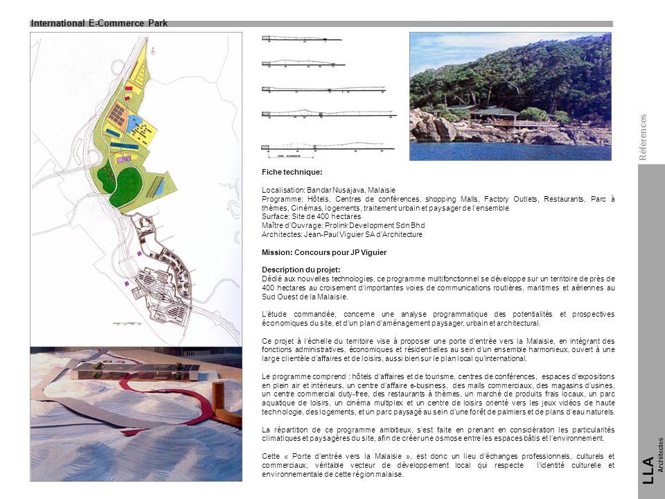 LLA 12 International E-Commerce Park Références Fiche technique: