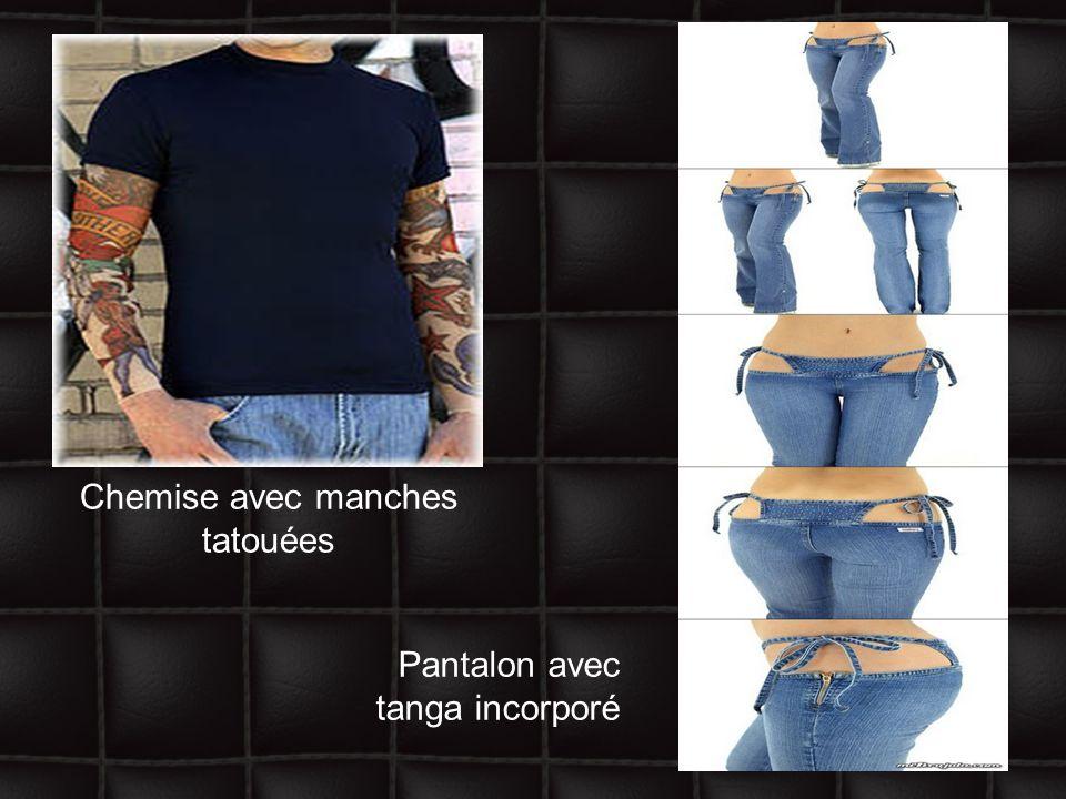 Chemise avec manches tatouées